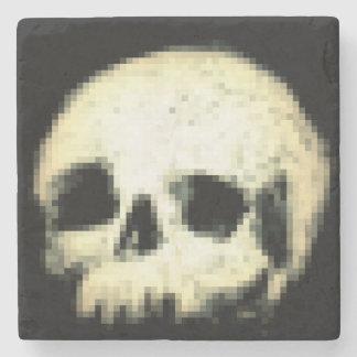Pixalated Skull Stone Coaster
