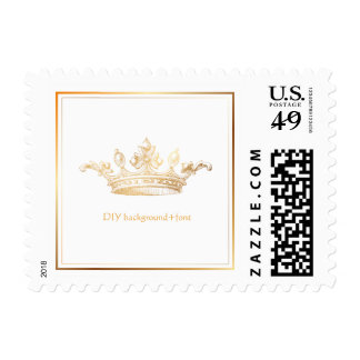 PixD3zines Imperial Crown/Faux Gold Postage