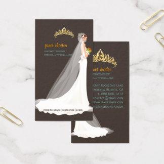 PixDez brides' boutique/dark taupe/teal/orange Business Card