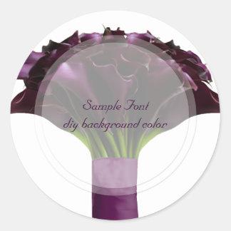 PixDezine burgundy calla/DIY background color Classic Round Sticker