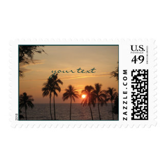 PixDezine Hawaii Sunset Moana Kea/DIY Postage Stamps