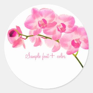 PixDezine maui pink orchid Classic Round Sticker