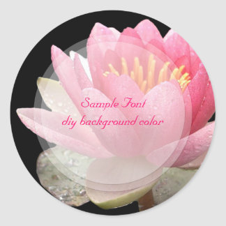 PixDezine pink lotus/DIY background color Classic Round Sticker