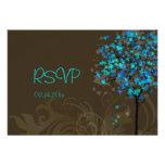 PixDezine rsvp blue maple leaves/DIY background Invites