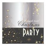 "PixDezine Sparkling Christmas Tree 5.25"" Square Invitation Card"