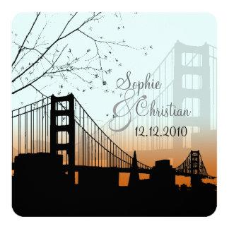PixDezine Sunset at Golden Gate/DIY background Personalized Invitations