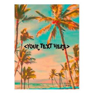 PixDezine Vintage Hawaiian Beach Scene Post Card