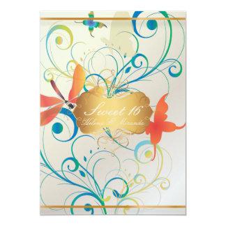 PixDezines 16/Butterfiles/Swirls/Dragonflies dulce Invitación 12,7 X 17,8 Cm