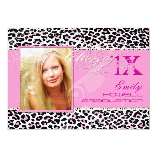 PixDezines 2012 Grads, cheetah print/diy colors Card