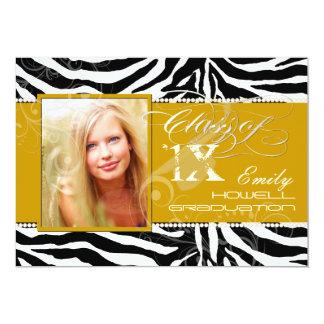 PixDezines 2012 Grads, zebra print/diy colors Card
