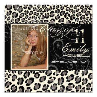 PixDezines 2012 graduation leopard diy background Custom Invite