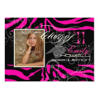PixDezines 2012 graduation/zebra/diy color Personalized Invite