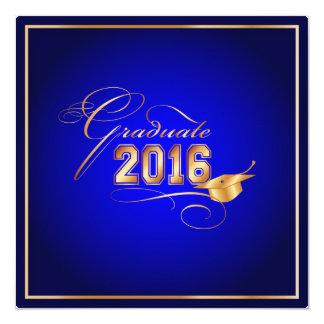 PixDezines 2016 graduation/blue+gold tone Card