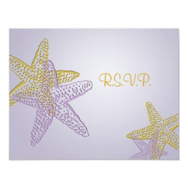 "Beach Themed PixDezines 4.25""x5.5"" rsvp, starfish for 5x7 Card"