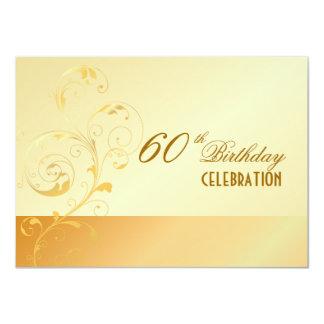 PixDezines 60 Birthday/filigree/DIY your event.. Custom Invitation