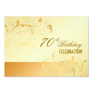 PixDezines 70 Birthday/filigree/DIY your event.. 4.5x6.25 Paper Invitation Card