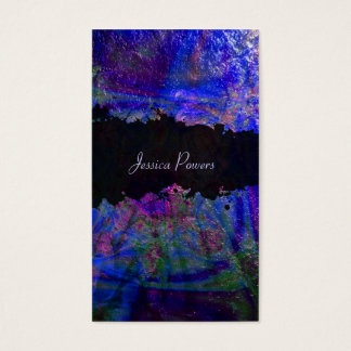 PixDezines abstract/cobalt/indigo/metallic texture Business Card