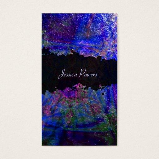 PixDezines abstract/cobalt/indigo/metallic texture Business Card
