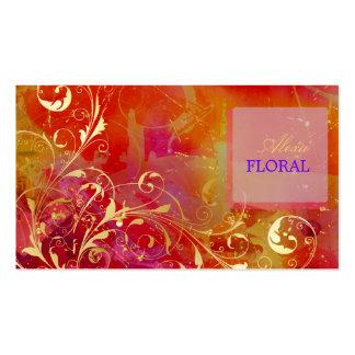 PixDezines abstract+filigree swirls Business Card Templates