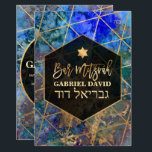 "PixDezines Abstract Galaxy Bar Mitzvah Invitation<br><div class=""desc"">✡ PixDezines modern abstract galaxy accented with faux gold geometric triangles and modern hand script for a Bar Mitzvah. All elements are editable and removable, choose from 300 fonts and fonts' colors. ✡ To view more of our geometric design, copy and paste this URL: www.zazzle.com/pixdezines geometric mitzvah?rf=238024746523913220 ✡ Copyright ©...</div>"