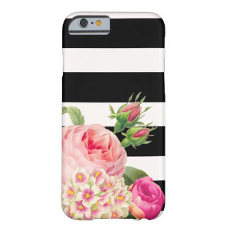 PixDezines adjustable stripes/vintage roses Barely There iPhone 6 Case