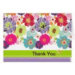 PixDezines Alegre, floral retro le agradece Felicitaciones