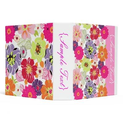 PixDezines Alegre, Retro Floral Binder