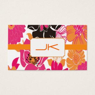 PixDezines Alegre Retro Floral Design Business Card