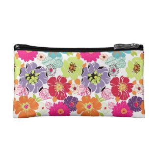 PixDezines Alegre Retro Floral, DIY background Cosmetic Bags
