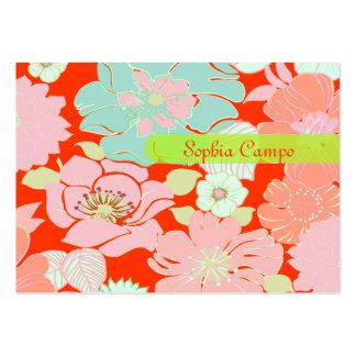 PixDezines Alegre Retro Floral, DIY background Large Business Card