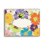 PixDezines Alegre Retro Floral Envelope