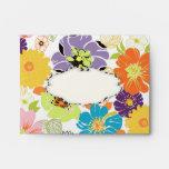 PixDezines Alegre Retro Floral Envelopes