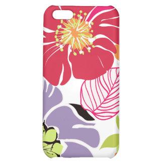 PixDezines Alegre Retro Floral Cover For iPhone 5C