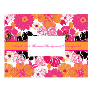 PixDezines Alegre Retro Floral, Marketing Postcard