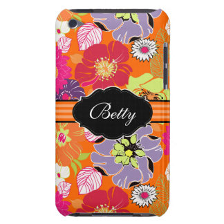 PixDezines Alegre retro flower/DIY background Barely There iPod Cover