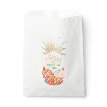 Beach Themed PixDezines Aloha Hawaiian Pineapple Favor Bag