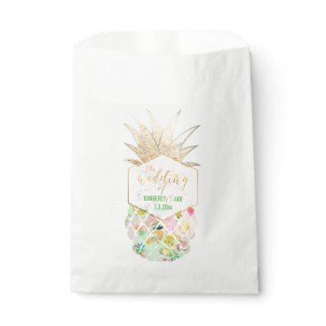 Beach Themed PixDezines Aloha Hawaiian Pineapple/Mint Green Favor Bag