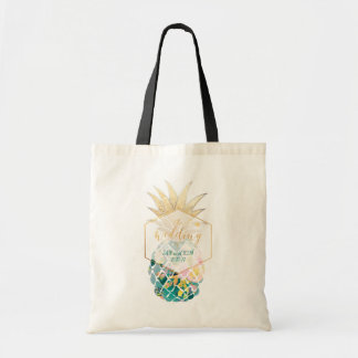 PixDezines Aloha Hawaiian Pineapple/Teal Tote Bag