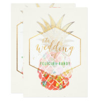 PixDezines Aloha Hawaiian Pineapples/DIY Backgroun Invitation
