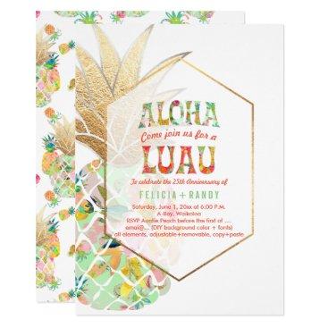 Beach Themed PixDezines Aloha Hawaiian Pineapples/Mint Green Card