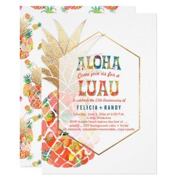 Beach Themed PixDezines Aloha Hawaiian Pineapples/Orange/DIY Card