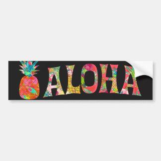 PixDezines Aloha Pineapple Bumper Sticker