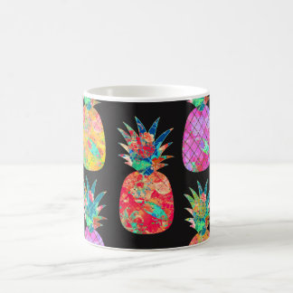 PixDezines Aloha Pineapple+Floral Watercolor Coffee Mug