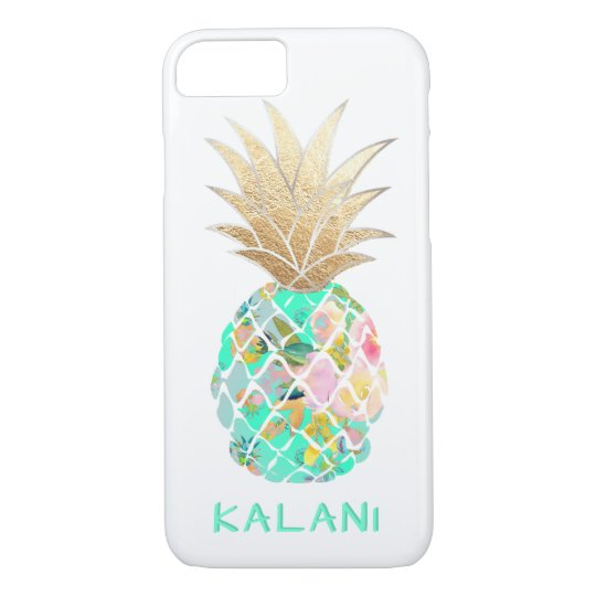 Pixdezines Aloha Pineapples Diy Background Case Mate Iphone Case