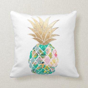 custom_pillows PixDezines Aloha Pineapples/DIY background Throw Pillow