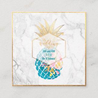 PixDezines Aloha Pineapples/Gold/Marble/Enclosure Enclosure Card