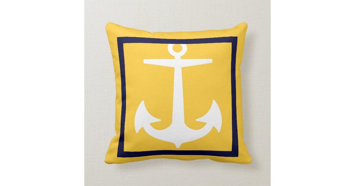 pixdezines anchor diy colors nautical throw pillow zazzle