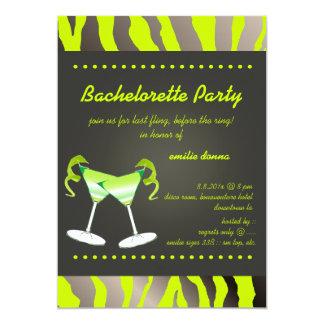 PixDezines apple martini Bachelorette Party Card