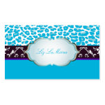 PixDezines aqua blue cheetah/DIY background color Double-Sided Standard Business Cards (Pack Of 100)
