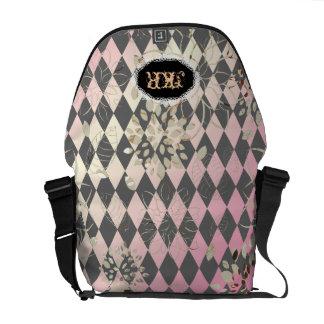PixDezines Argyle/Harlequin/DIY background Courier Bag